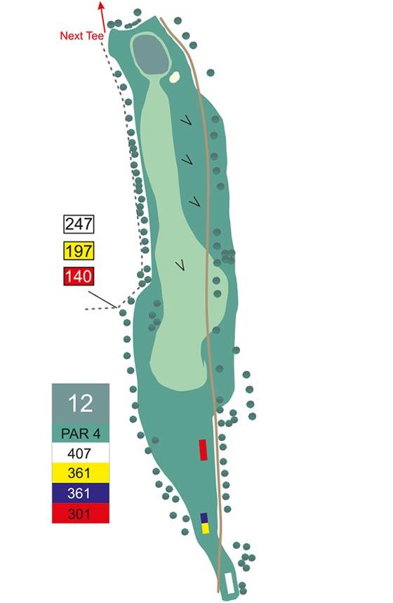 Fairway 12 auf Golfplatz Pleiskirchen