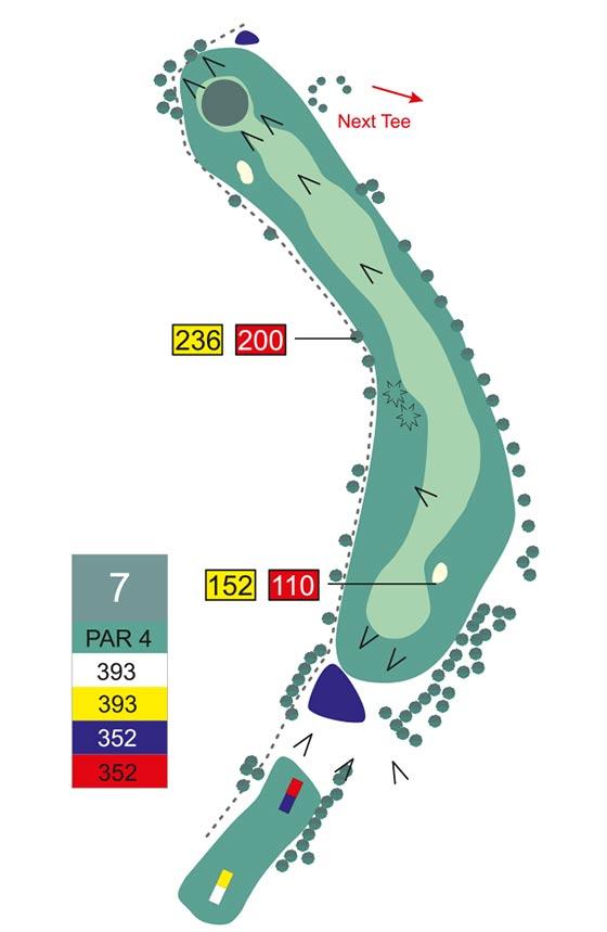 Fairway 7 auf Golfplatz Pleiskirchen