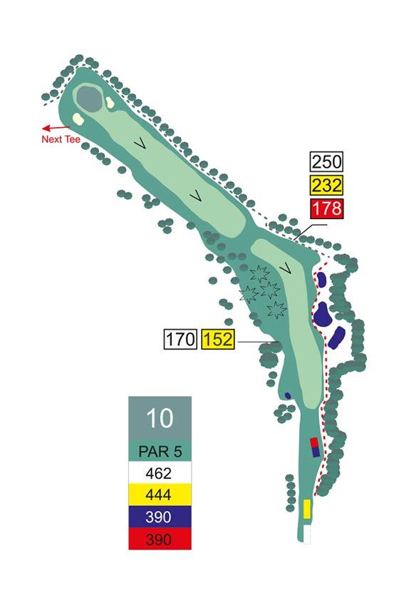 Fairway 10 auf Golfplatz Pleiskirchen