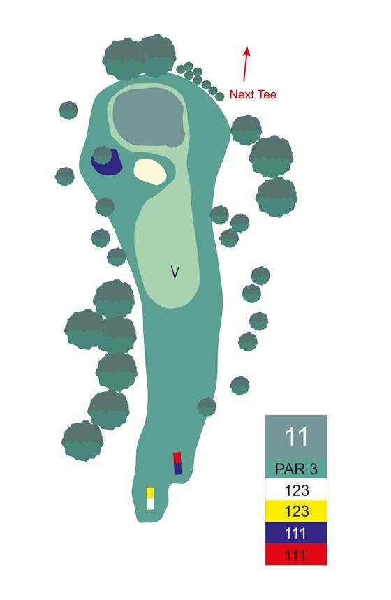 Fairway 11 auf Golfplatz Pleiskirchen