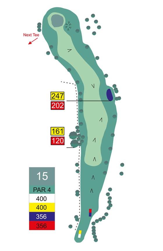Fairway 15 auf Golfplatz Pleiskirchen