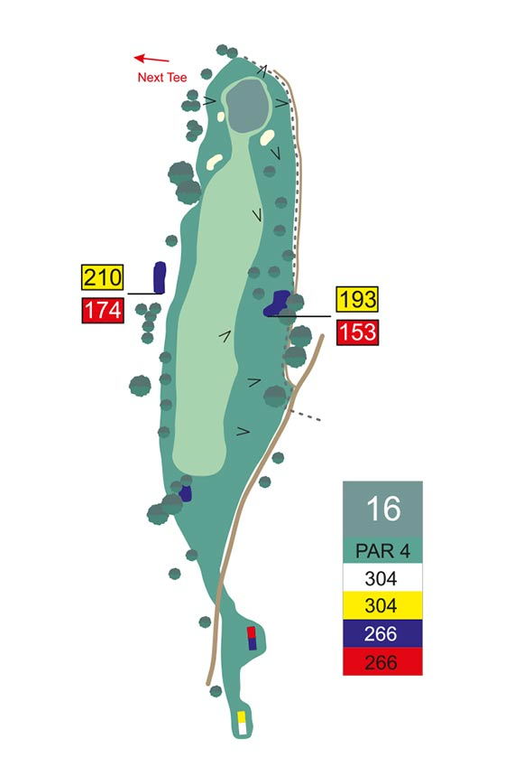 Fairway 16 auf Golfplatz Pleiskirchen