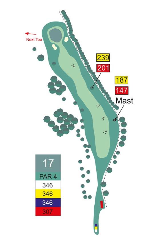 Fairway 17 auf Golfplatz Pleiskirchen