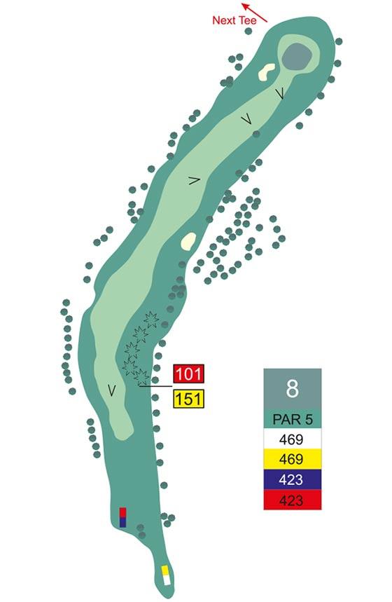 Fairway 8 auf Golfplatz Pleiskirchen