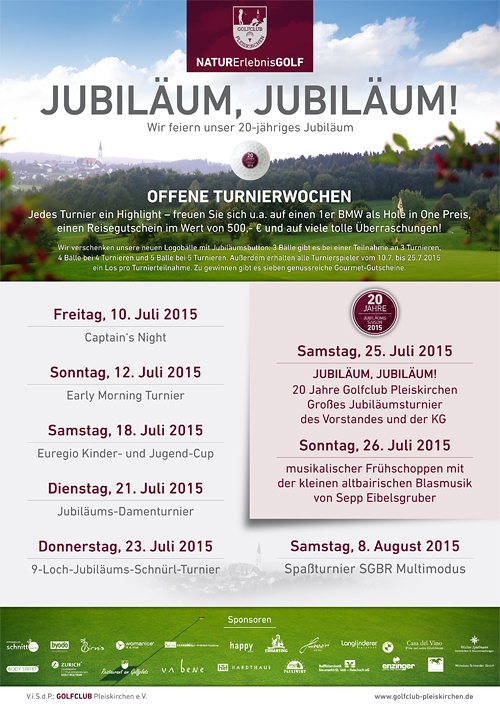 Golfclub Pleiskirchen - 20jähriges Jubiläum